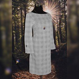Ann Taylor Stunning Checkered Dress